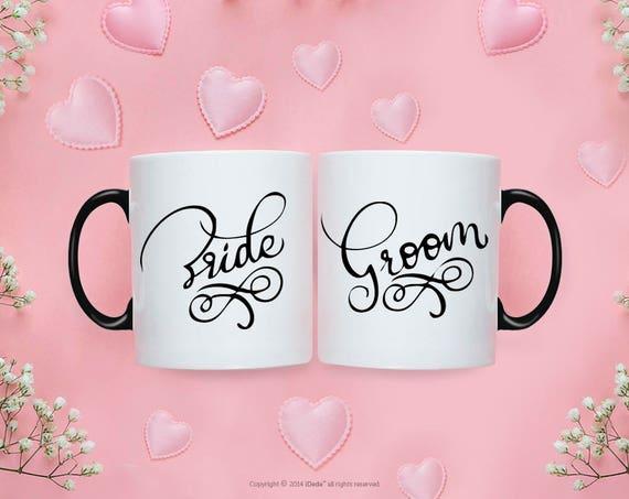 Bride Groom MUG SET / Bride Groom Gifts / Wedding / Wedding Gift Set / Wedding Set for Mr and Mrs Wedding Gift  Bride To Be Couple Gift 224O