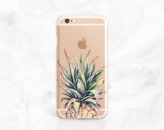 iPhone 7 Case Pineapple iPhone 8 Case Clear iPhone 8 Plus Case Samsung Galaxy S8 Case leaf iPhone 7 Plus Case iPhone 6 Case iPhone 5 case