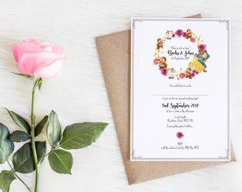 50 Beauty & The Beast Wedding Invitations!