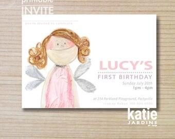 kids invitation - fairy invitation - girls invitation - printable invitation - BHG fairy