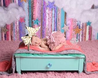 GOLDEN CHEVRON Gorgeous Wrap- headwrap; fabric head wrap; chevron head wrap; newborn headband; baby headband; toddler headband;