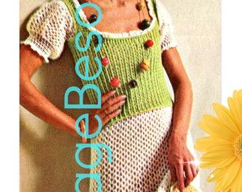 DIGITAL PATTERN • Gypsy Dress Crochet Pattern • PdF Pattern • Feminine Ruffles that make you feel like dancing the Flamenco Vintage 1970s
