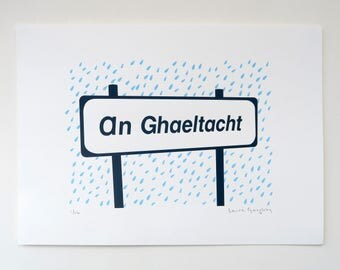 An Ghaeltacht - Irish Screenprint
