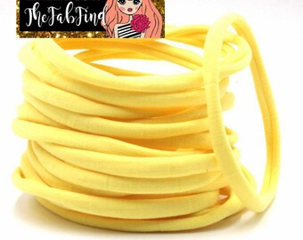 Yellow Nylon Headband | One Size Headband | THIN Soft Nylon Headband for baby and adults| Premium Infant & Baby Headbands | BULK