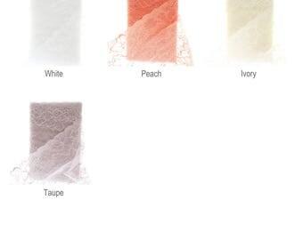 "6.5"" Vintage French Wide Lace Ribbon Trim 5 yards - Choose Color"
