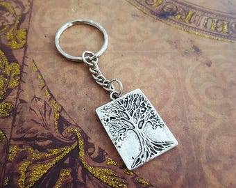 Tree Keychain, Nature Keyring, Ygdrasil Gift, Life Tree Keyring, Woodland Charm, Hippie Gift, Nature Lover Keychain, Tree Charm, Forest Gift