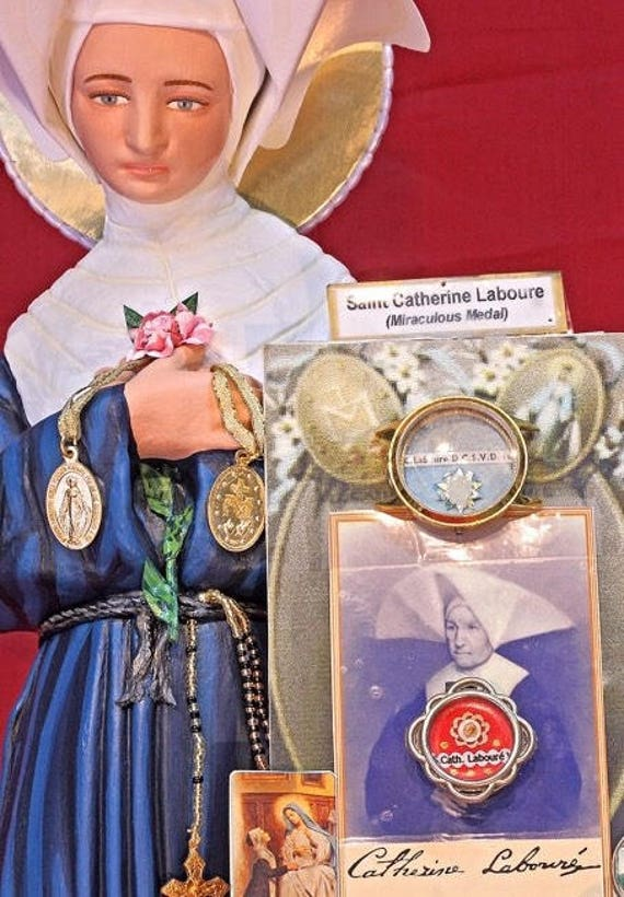"""St. Catherine Laboure 24"""" The Miraculous Medal was given to her by the Mother of God"""