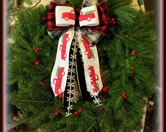 Merry Christmas Delivery ~ Balsam Fir Wreath Maine Made Fresh & Decorated