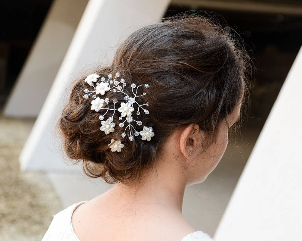 wedding hair pins bride hair pin ivory bridesmaid hair