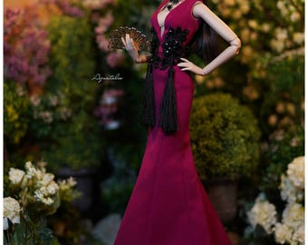 Le Dahlia - Gown for 16'' Fashion Doll - Limited Edition of 9.