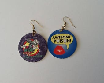 Pog Earrings, Vintage