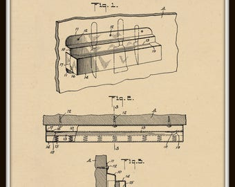 Kitchen tool holder Patent#1614342 dated January 11, 1927.