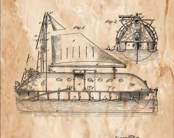 Life-Boat Patent #200347 dated Feb. 12, 1878.