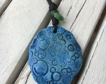 Blue Ceramic Pendant