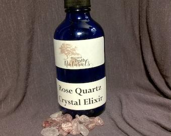 Natural Rose Quartz Gem Elixir 120ml  Universal Love Stone Powerful gem energy Empowering crystals inside!  Heal Heart, Find Love
