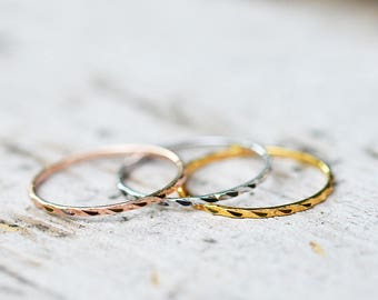 Gold Stacking Rings Gold Stacking Ring Set 18k Gold Stacking Rings Rose Gold Stacking Rings 1mm Gold Stacking Ring Skinny Gold Stacking Ring