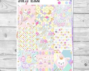 HAPPY EASTER // Erin Condren // The Happy Planner // Sticker Kit // Spring stickers//  Ballerina Stickers // Recollections planner