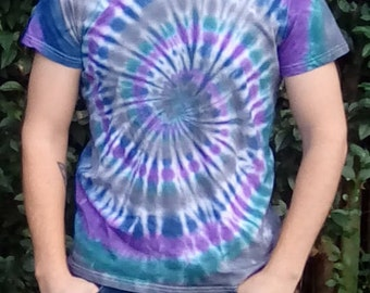 One Off Tie Dye, Unique Tie Dye, Tie Dye for Men, Alternative Lifestyle,  Gift for Him, Hippy Tshirt, Festival Clothing, Hippy Gifts
