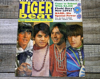 Teen Magazine - Tiger Beat,  June 1968, Special Color Monkee Movie Issue, 1960s Collectibles, Sajid Khan, Mark Lindsay
