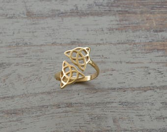 Sterling Silver Celtic Knot Ring Celtic Ring Celtic Knot Silver Celtic Ring Celtic Jewelry Knot Ring 925 Infinity Knot Silver Irish Ring