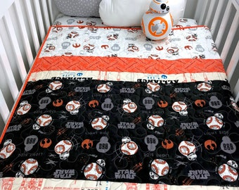 star wars bb8 baby quilt star wars crib quilt bb 8 quilt star