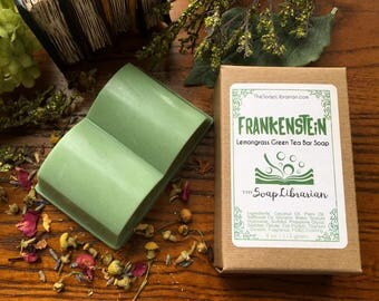 Frankenstein Bar Soap - Book Inspired Soap, Gift for Readers - Natural Soap