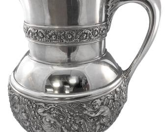 Olympian / Cupid Tiffany & Co. Sterling Silver Pitcher 4 1/4 Pints