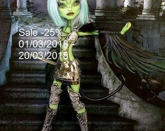 SALE -25%! Monster High Repaint, Monster High OOAK, High Monster Custom Lalarossa, Create a Monster, BJD, Arystyda