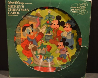 1980 Disney's Mickey's Christmas Carol Picture Disc-Disneyland Records 3109