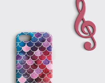 Mermaid Phone Case Watercolor Purple iPhone 7 Case iPhone 8 Plus Case Mermaid Skin iPhone 7 Plus Case Samsung Galaxy S7 Case iPhone 6 Case