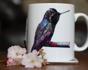 HUMMINGBIRD MUG - Gemma Hayward Art Tea Coffee Animal lovers cup Exotic Bird