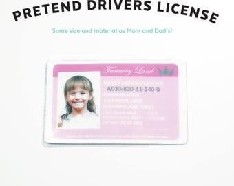 Kid Driver License Etsy