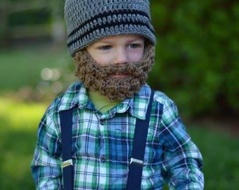 Lumberjack Hat for Halloween - Bearded Baby Hat - Toddler Halloween Costume - Quick & Easy Halloween Costume Ideas - Baby's First Halloween