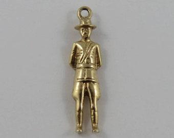 Royal Canadian Mounted Police (RCMP) 10K Gold Vintage Charm For Bracelet