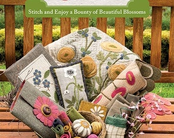 NEW!! A Cottage Garden by Cardiff Farms - Wool applique projects!!