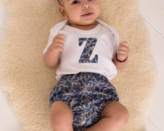 ASTER Handmade Boys Liberty of London Print Baby Bloomers Nappy/Diaper Cover