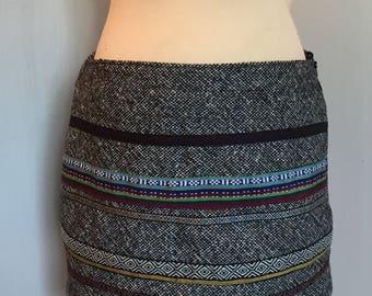 Ethnic wool skirt size M
