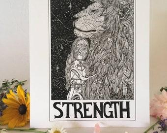"Tarot Card Print • ""Strength"" • by Madison Ross"