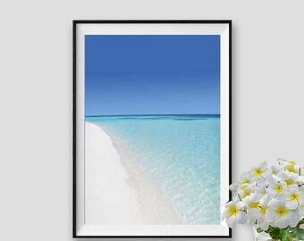Maldives Beach Print Sea Instant Download Ocean Print Sea Decor Beach Wall Art Ocean Decor Maldives Photograph Beach Printable Art