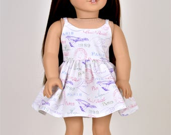 18 inch doll dress Spaghetti straps Paris