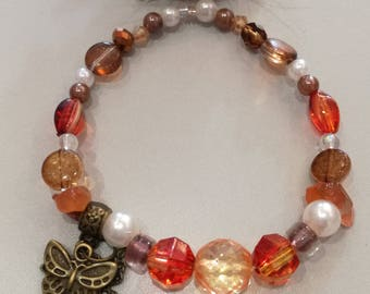 Orange fashion bracelet