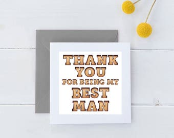 Groomsmen Stickers / Thank you for being my groomsman label / Best Man sticker / Thank You Best Man / GBW-64