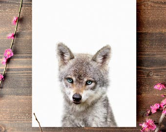 Baby woodland animals, Baby wolf print, PRINTABLE art, Nursery decor, Animal art, Baby animals, Nursery wall art, Kids art, Forest animals