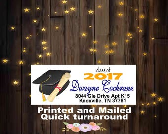 90 Printed and Mailed Class of 2018 Address Labels
