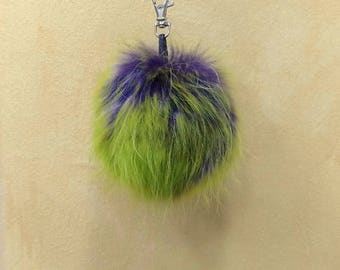 Unique Fox Fur Pom Pom, Bag Pom Pom,Fur keychain F691