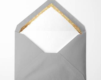 Gold Foil lined envelopes - pack of 10
