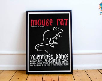 Mouse Rat gig poster / Print / Art - Parks and Recreation