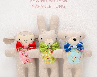 PDF Sewing Pattern - Lambkin, Bunny and Bear