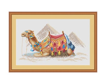 Camel cross stitch pattern, cross stitch pattern, modern cross stitch, PDF, instant download