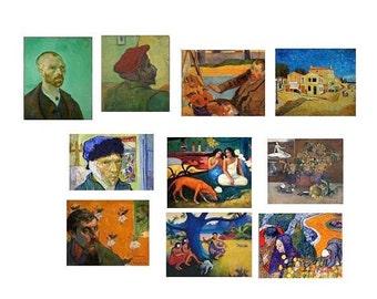 Vincent Van Gogh,Gauguin Stickers,10 Stickers, MacBook Decal,Laptop Stickers,Laptop Decal,Art Stickers,Planner Stickers, Gift for Artist